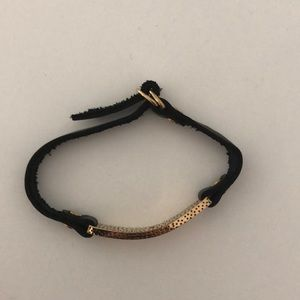 •madewell• leather and gold bracelet